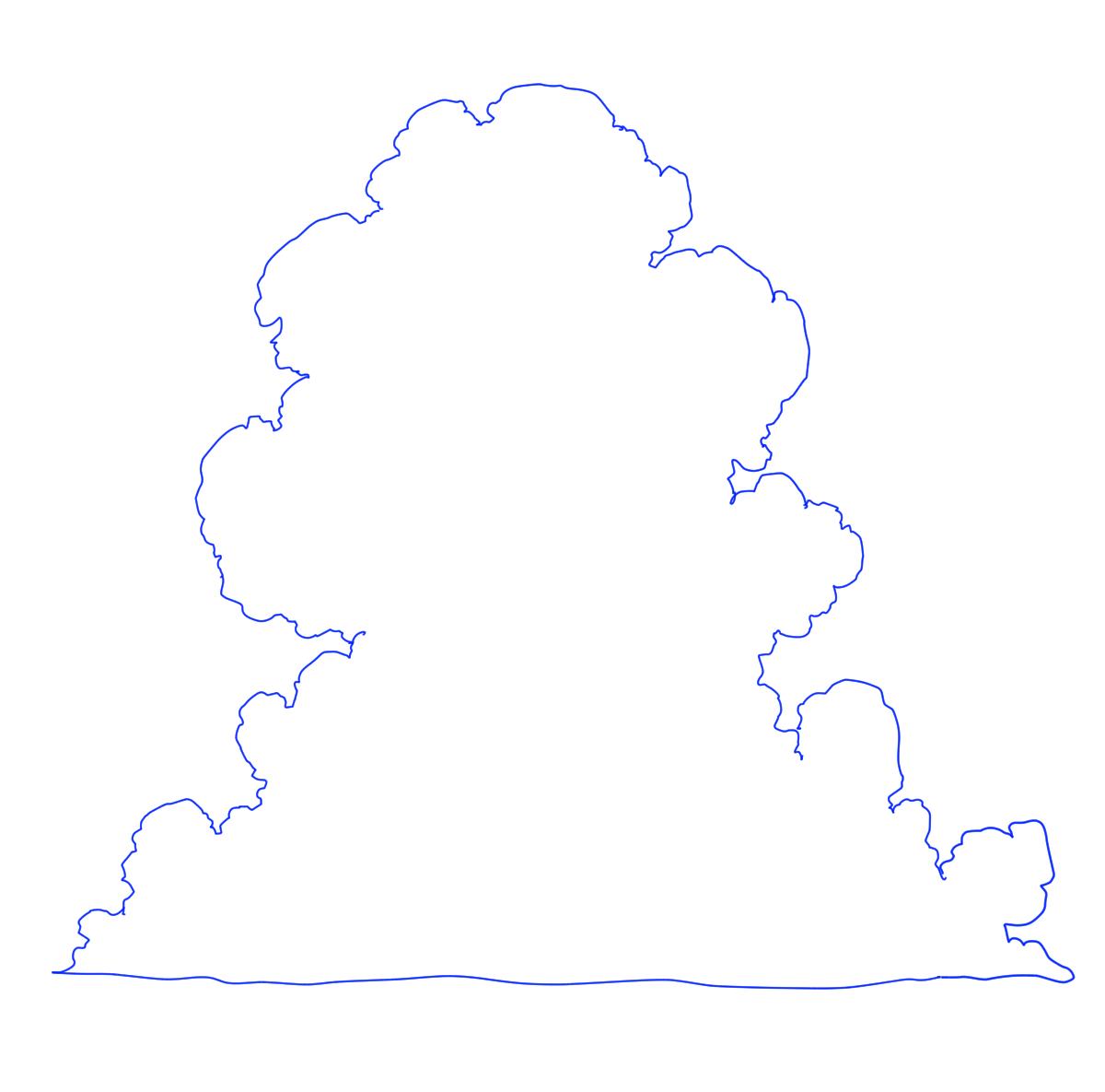 雲の描き方 テンプレート 夏の背景練習