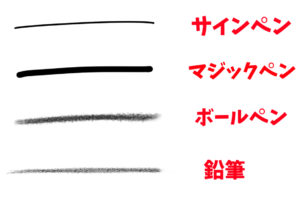 線の描き方 画材