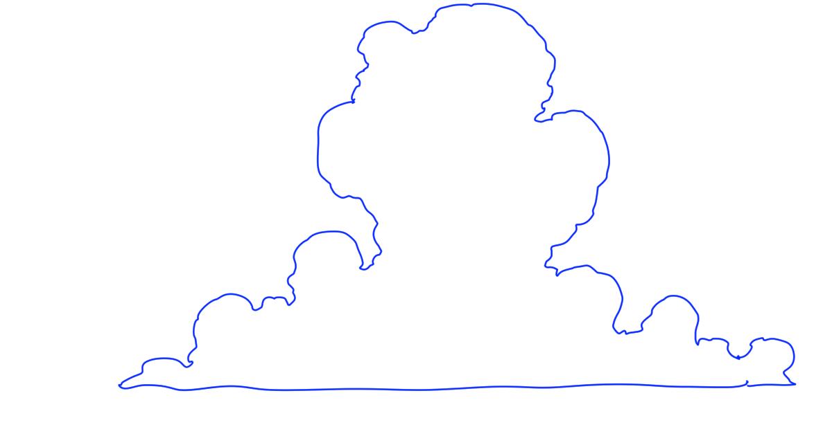 雲の描き方 テンプレート 空の練習イラスト