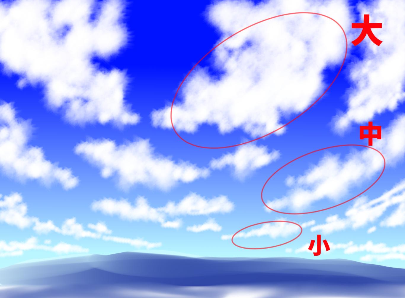 入道雲の描き方 夏空の背景イラスト