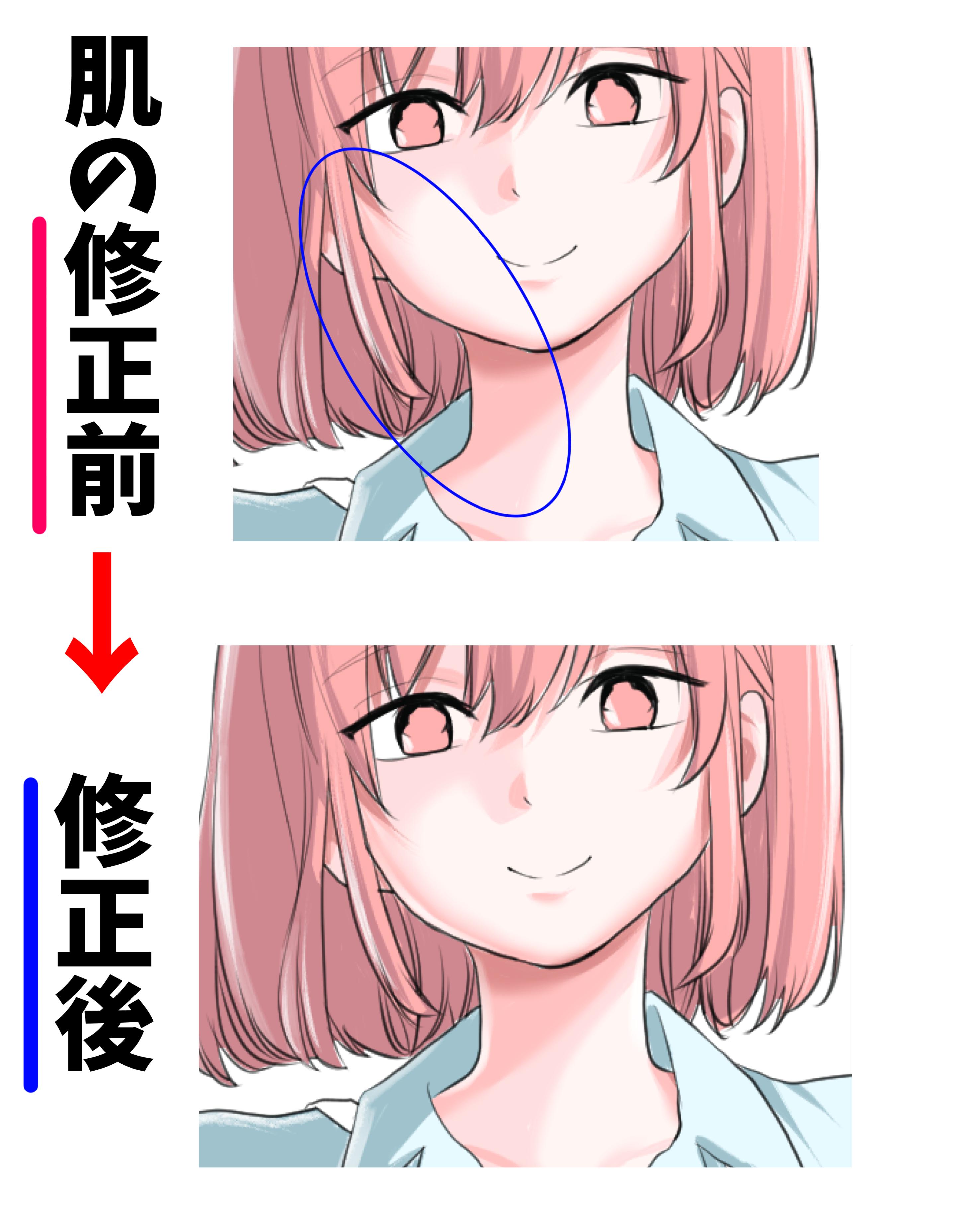 顔の模写のやり方