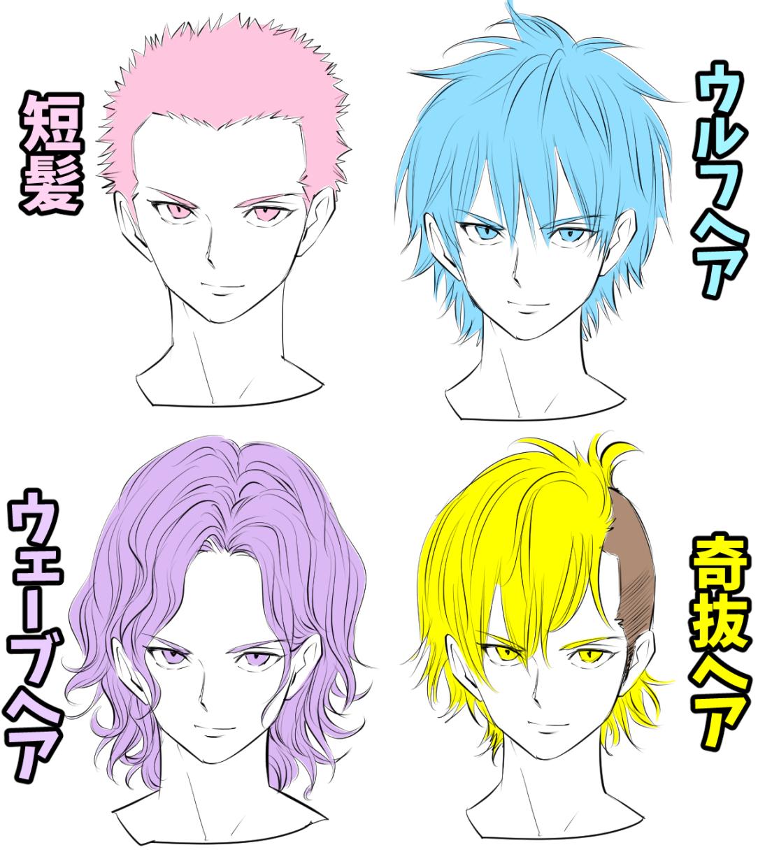 髪の描き方 模写のやり方