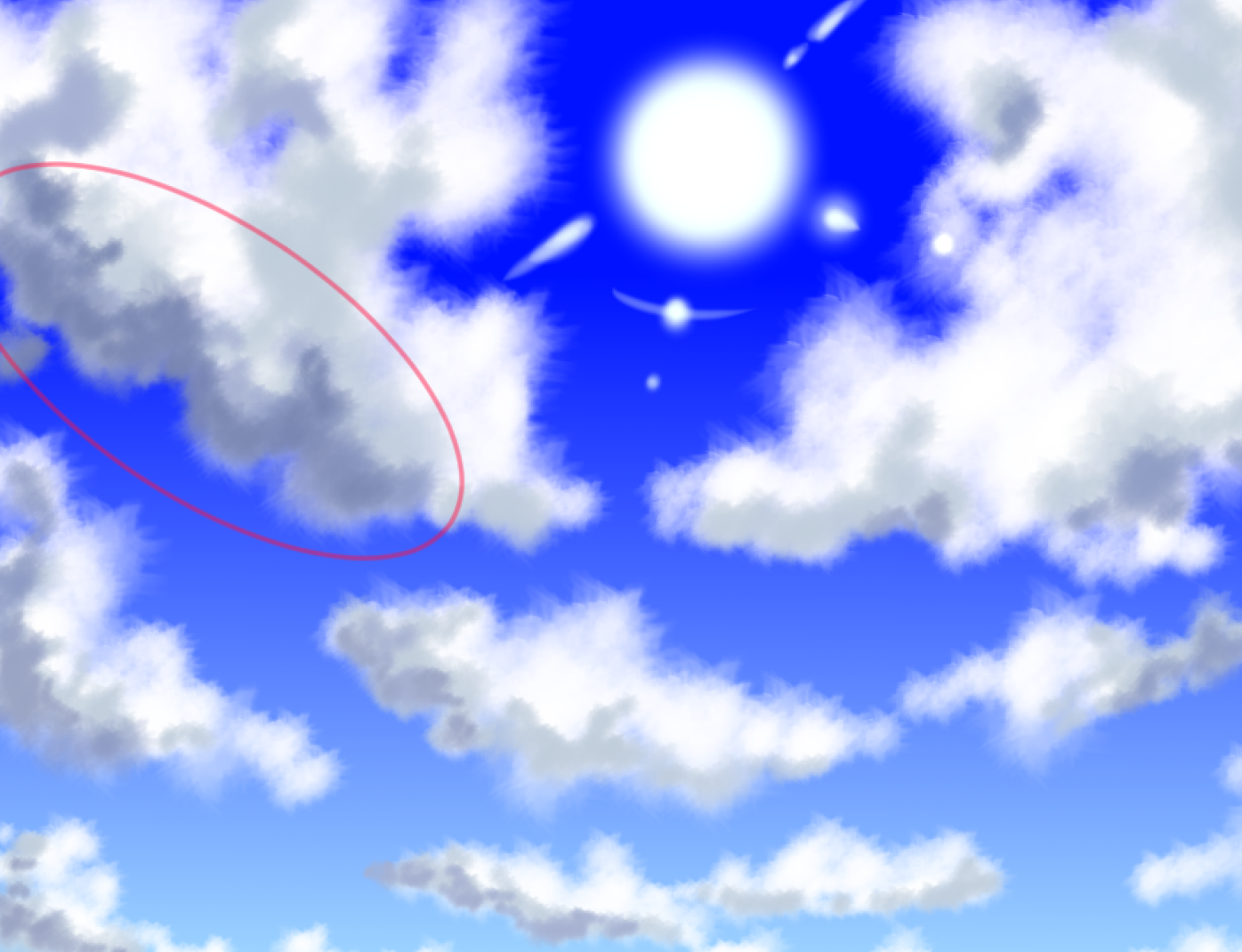 雲の描き方 空の背景のイラスト