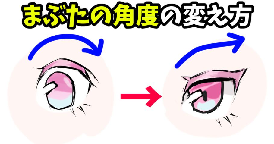 顔の模写  眼の描き方 女の子イラスト