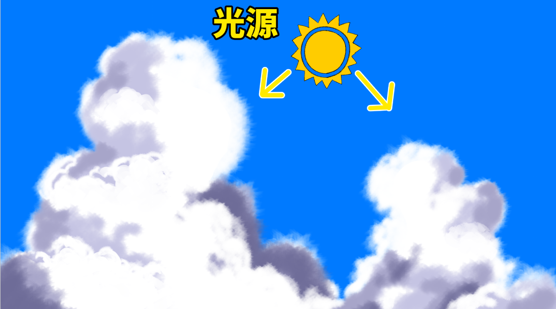 入道雲の描き方 夏の背景イラスト