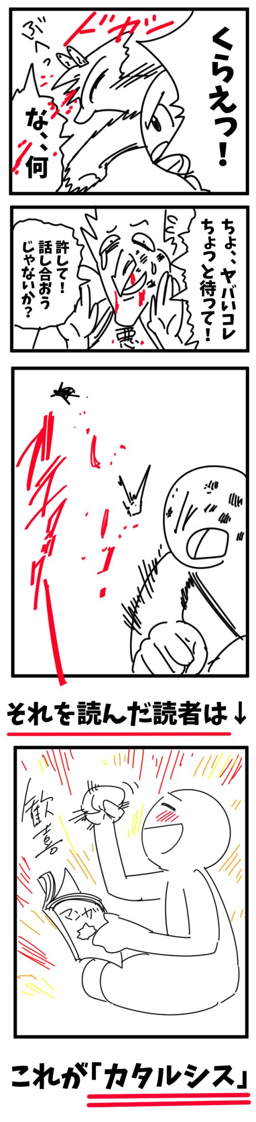 カタルシスの意味 絵の用語 漫画