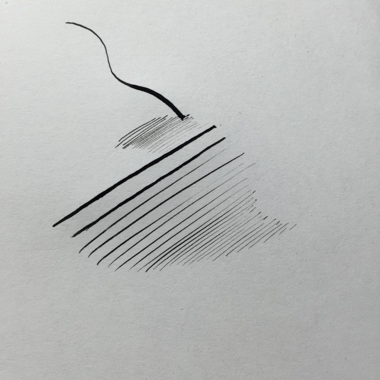漫画のペン 線画