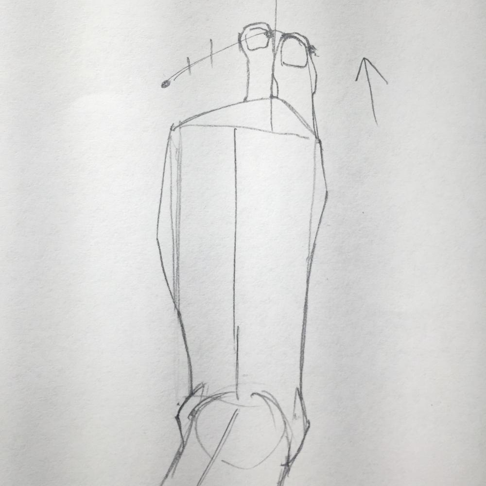 足の描き方 イラスト講座 絵の上達