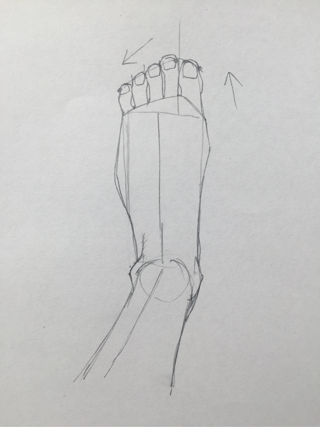 足の描き方 足のデッサン 練習