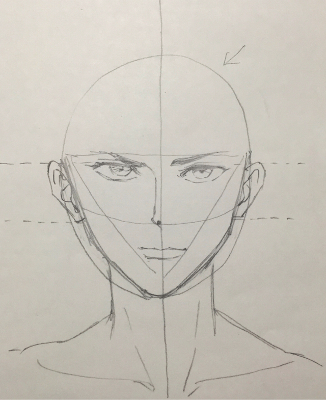 顔の描き方 イラストの初心者が描く