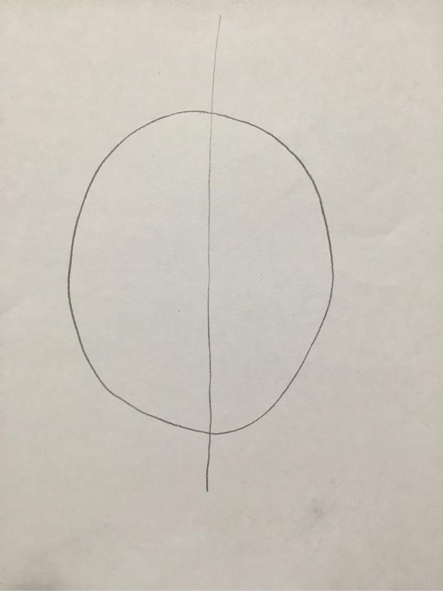 顔の描き方 あたりの練習イラスト