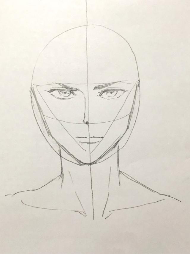 イラストの描き方 初心者の顔のコツ