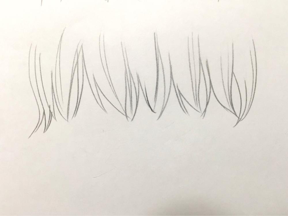 顔の描き方 初心者の髪のイラスト