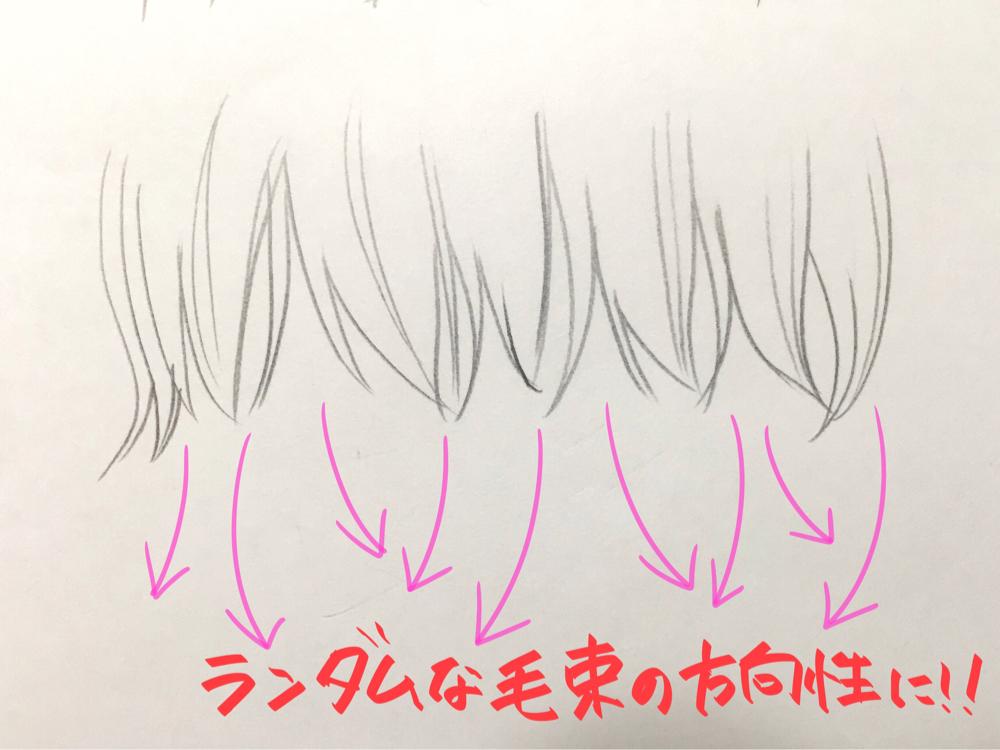 顔の描き方 髪のイラスト練習