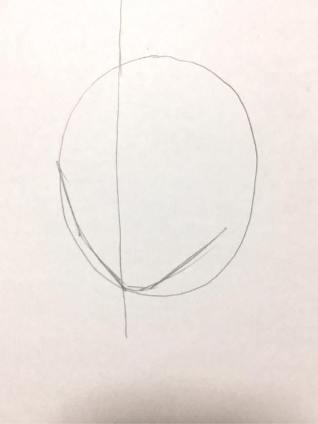 顔の絵を描く
