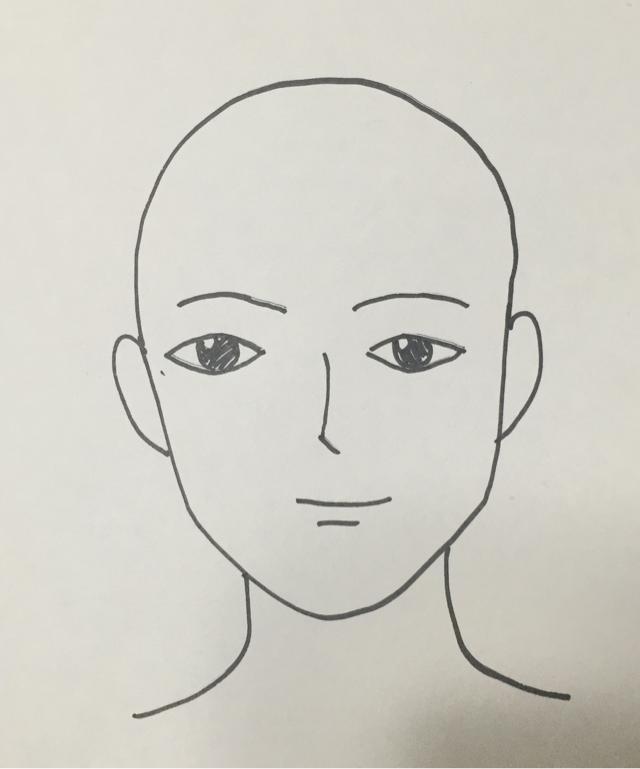 初心者が絵を描く 顔のイラストが下手