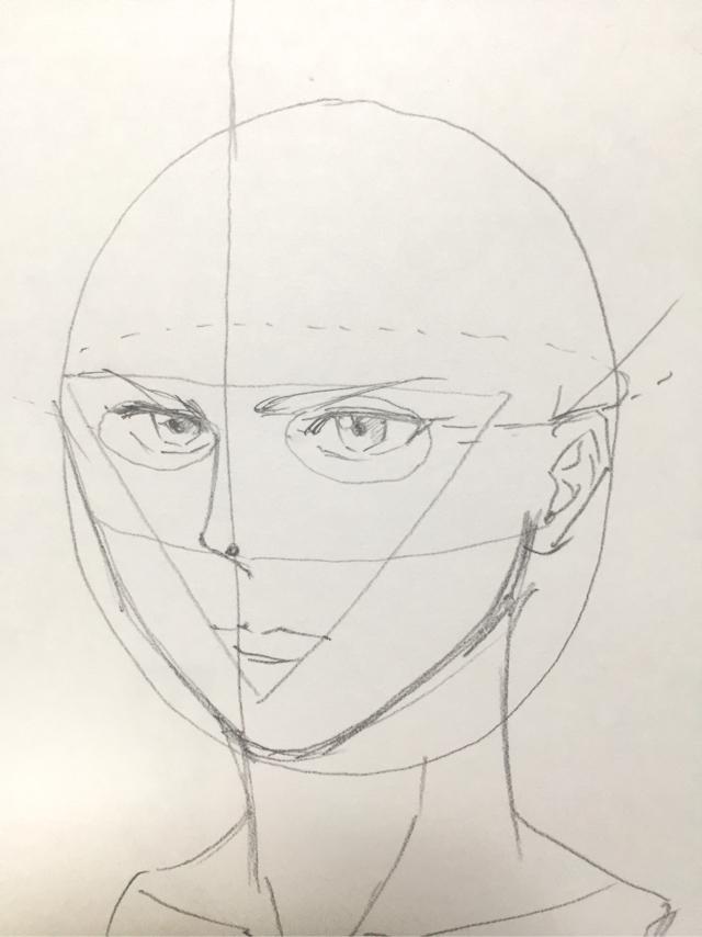 顔の書き方 絵の初心者の練習