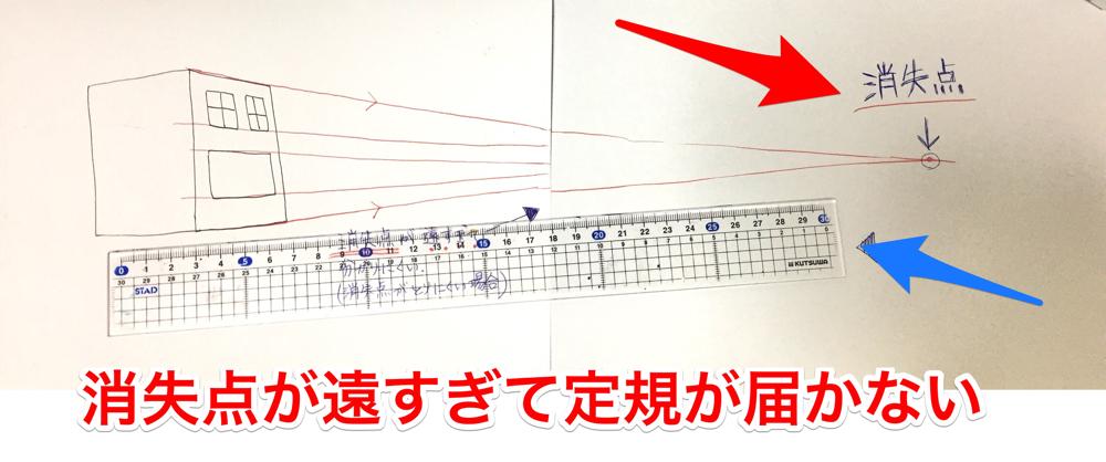 パースの描き方 背景の消失点 ペンの画材